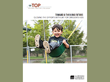 TOP report cover featuring a child in a swing.