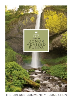 OCF Guide to Donor Advised Funds