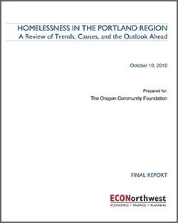 Homelessness in the Portland Region
